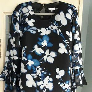 NWT Calvin Klein Women's  XL Floral Blouse